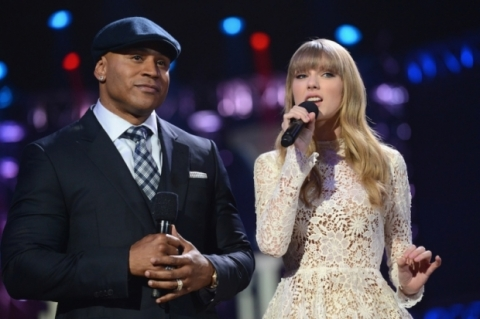 LL Cool J & Taylor Swift at last night's nomination event.